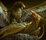 Eagle vs Dragon. WIP! by Manzanedo