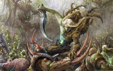 Sylvaneth vs Rotbringers by Manzanedo