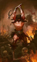 Tribute to Frazetta by Manzanedo