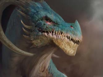 Dragon head II by Manzanedo