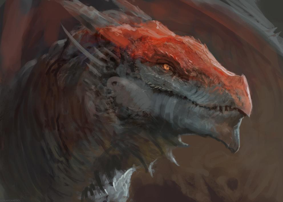 Dragon Sketch by Manzanedo