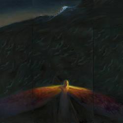 Bitter Ocean (2018) oil on canvas, 104 x 144 in by jialu