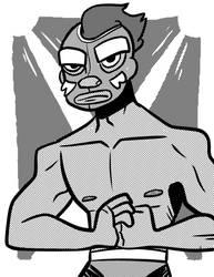 El Eyebrows, Luchador by Kootani
