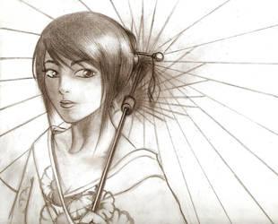 Lady Umbrella by chasama