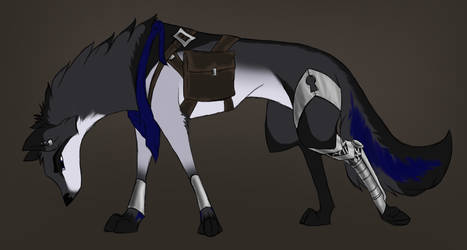 DeerTheArtist's Raffle Prize - Tesla Wolf by The-Shadoux