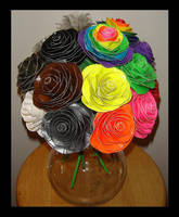 Neutral and Neon Roses by DuckTapeBandit