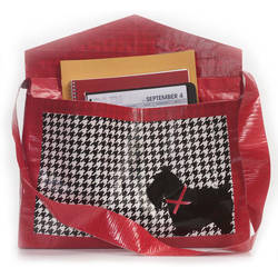 Duct Tape houndstooth bag by DuckTapeBandit