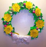 Yellow Flower Wreath by DuckTapeBandit
