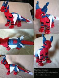 Spidey-dragon Plush by silvermoonnw