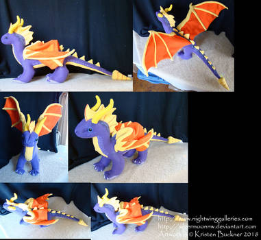 Stylized Spyro the Dragon by silvermoonnw