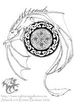Dragon's Luck Tattoo design by silvermoonnw