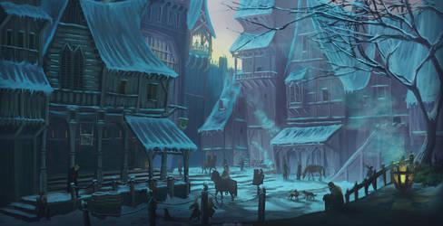 Snowy Street Concept by Ardoric95