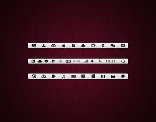 Menubar icons v2 Leopard, SL by iAndrew