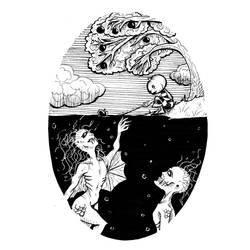 Inktober 2017 Day 4 Underwater by DovahLi