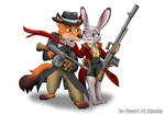 Nick Wilde and Judy Hopps Gangstas by Sword-of-Akasha