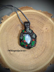 Moonstone necklace pendant by WhisperJack