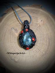 Labradorite necklace pendant, The magic stone by WhisperJack