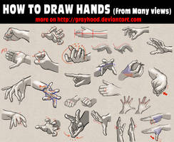 How to draw hands from many views by PitGraf