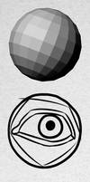 How to draw an eye with awesome volumes by PitGraf