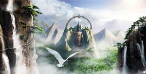 Buddha-Mountain by onejian