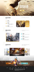 game landing page by onejian