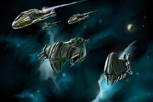 The Fleet Begins to Assemble by desuran