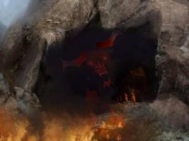 Red dragon's cave by serjio-c