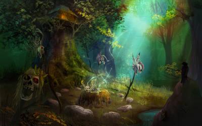 Sorcerer's hut by serjio-c