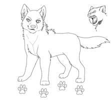 Wolf Lineart by PirateGirl-Tetra