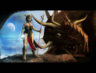 Dragon Priestess by Capestranus