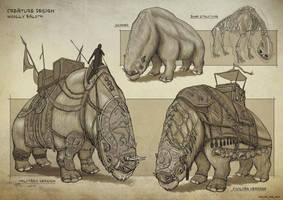 Creature Design: Woolly Baloth by rofellos