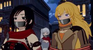 Ruby Weiss and Yang Tape Gagged by lakithundurus