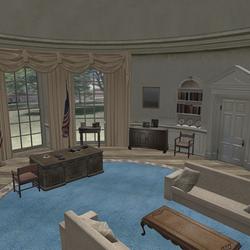 RE6 Leon president office by Adngel