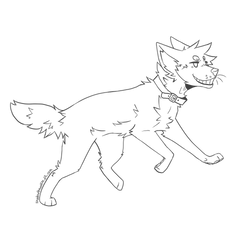 Free Wolf/Dog Lineart by shadowthewolf71