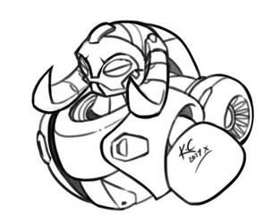 Overwatch - Orisa Sketch by TricksyPixel