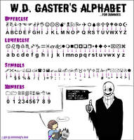 Gaster's Alphabet by Lea-Lu
