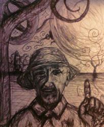 Grandpa's stories of his moon trip... by Mrfranman