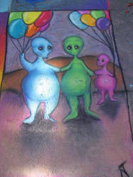 Aliens with Balloons by foxcat42