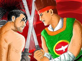 Mitsurugi VS Hwang by MaryShan