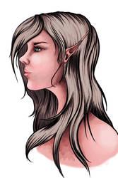 Blonde elf girl by ValiantVivica
