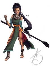 elf monk character by ValiantVivica