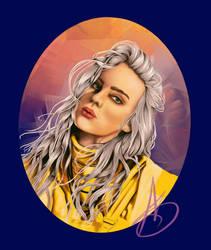 Billie eilish portrait by ValiantVivica