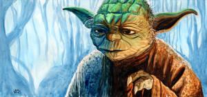 Yoda in Dagobah by Lord-Makro