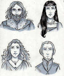 Hogwarts Founders by RiTTa1310
