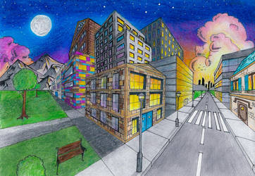 Perspective Drawing by ehanset