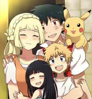 The Ketchum Family  (Aureliashipping) by PokemonMastermind