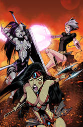 Danger Doll Squad Galactic Gladiators #3 cvr color by Jukkart