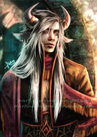 Ilwyd_(OC)_The White Bull by MartinaSaviane