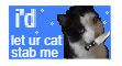 i'd let ur cat stab me stamp F2U by puppie-parade