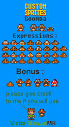 SMB3 - Goomba Expression (16-Bits) by VictorManuelMR